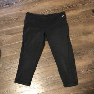 Cropped, grey leggings